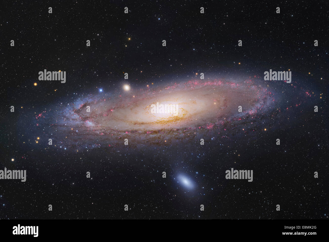 The Andromeda Galaxy, also known as Messier 31 or NGC 224, in the constellation Andromeda. - Stock Image