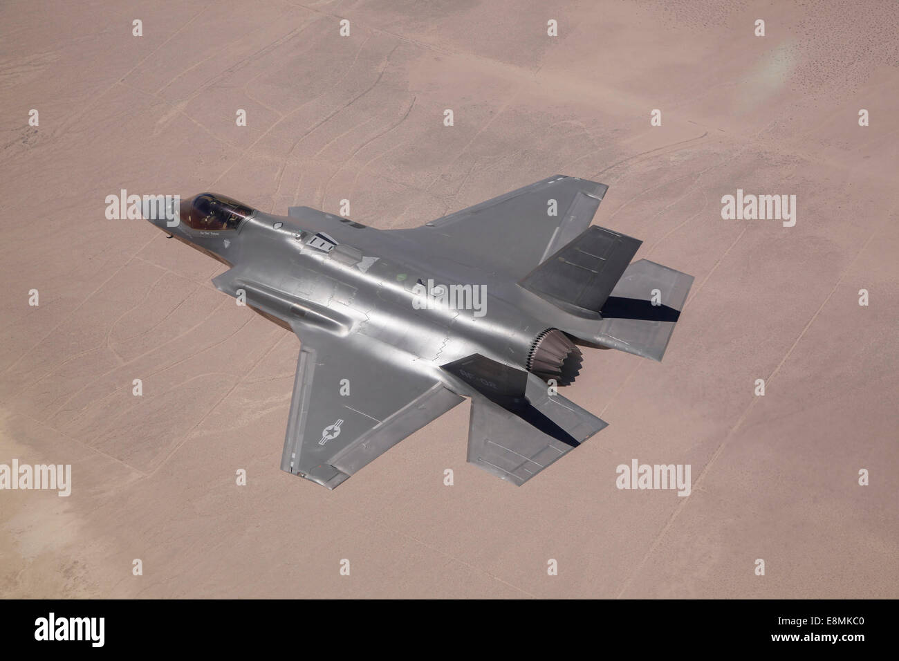 June 11, 2014 - An AF-2, the second production F-35 Lightning II of the U.S. Air Force, flies over Edwards Air Force Stock Photo