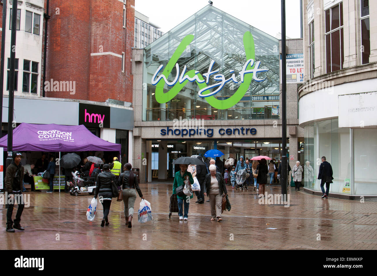 The Whitgift Shopping Centre, Croydon, South London, UK - Stock Image