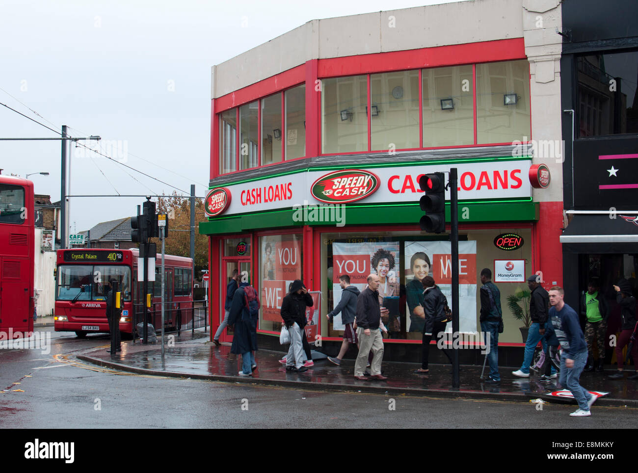 A Speedy Cash cash loans shop, Croydon, South London, UK - Stock Image