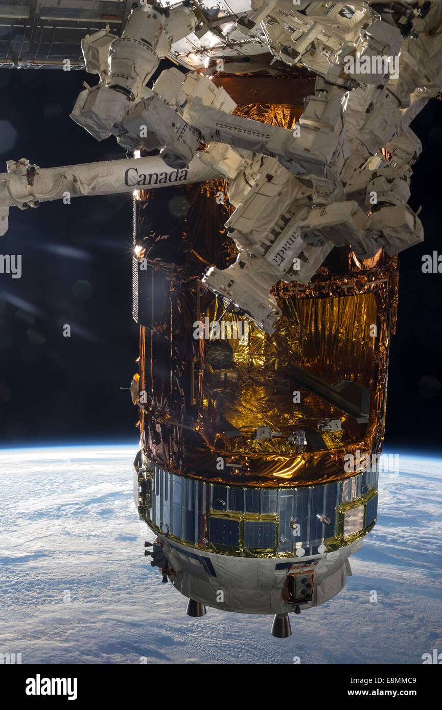 August 19, 2013 - The Japanese Kounotori H2 Transfer Vehicle-4 (HTV-4), currently attached to the Earth-facing port - Stock Image