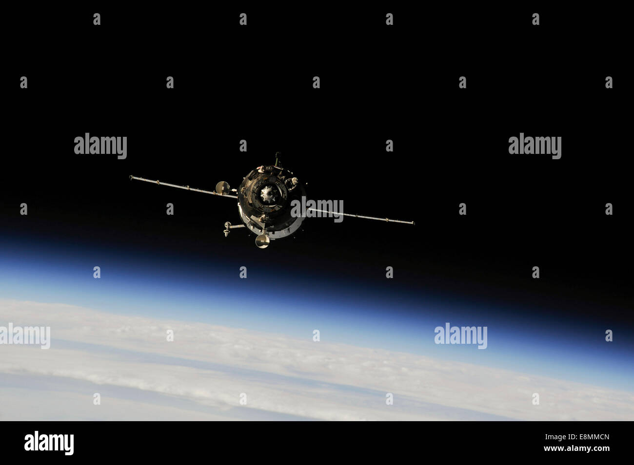 September 25, 2013 - The Soyuz TMA-10M above Earth's limb. - Stock Image