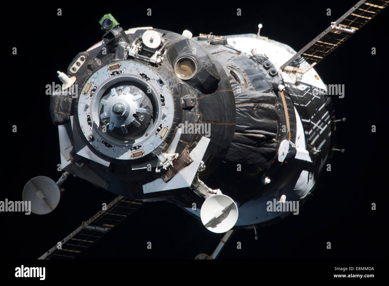 November 10, 2013 - The Soyuz TMA-09M spacecraft departs from the International Space Station's Zvezda Service - Stock Image