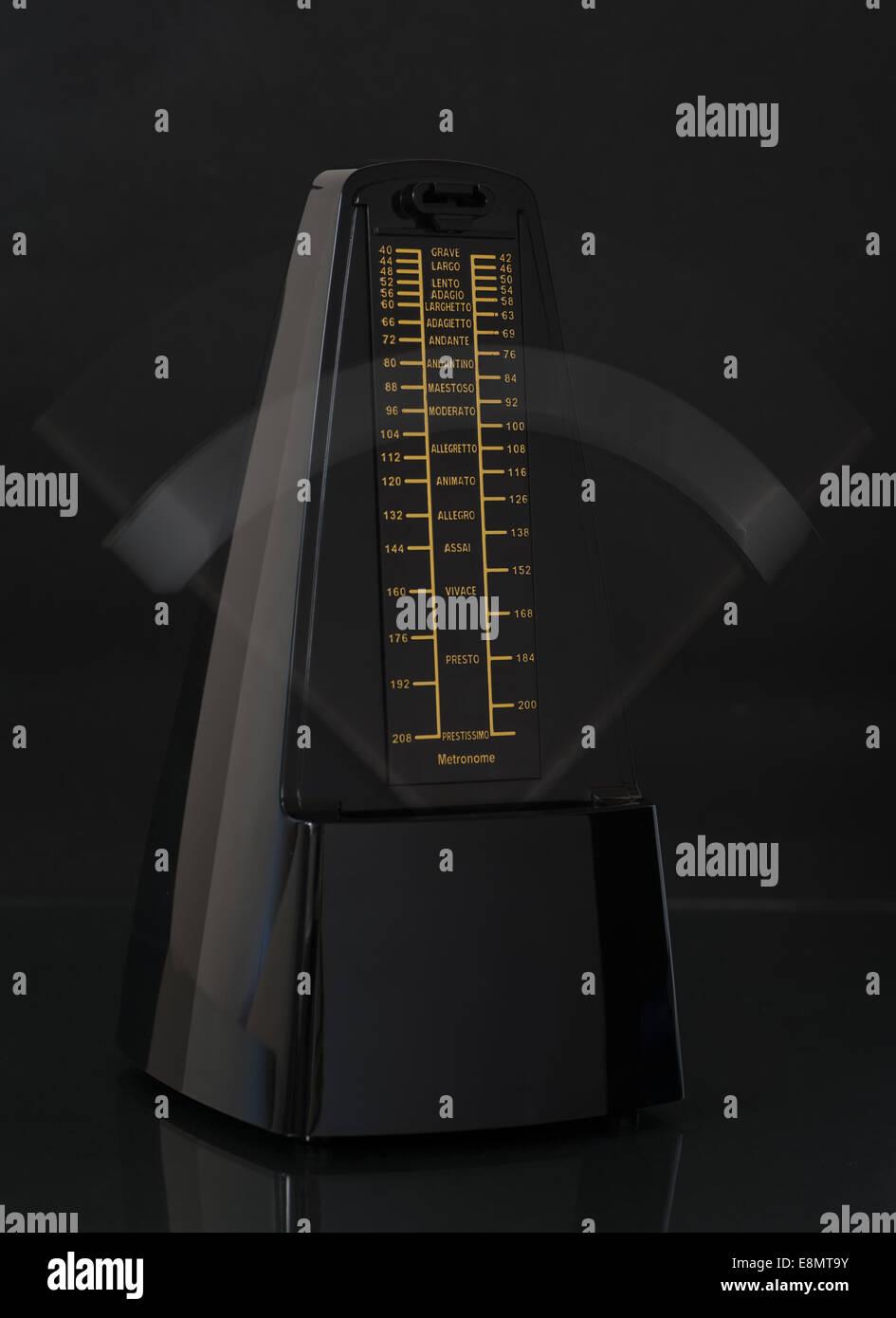 Ticking metronome Stock Photo