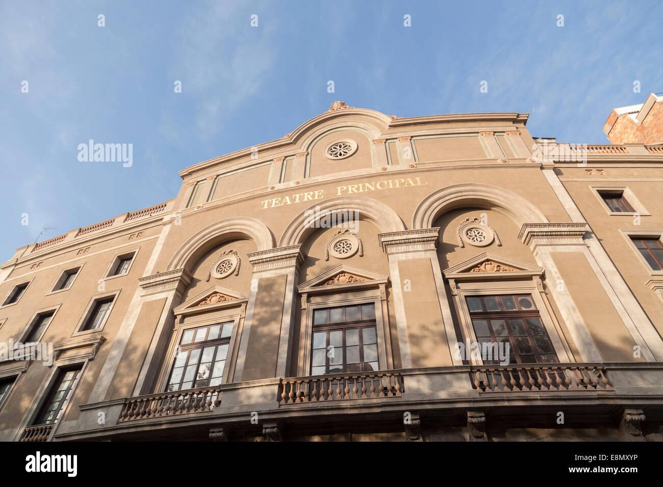 Teatre Principal in Ramblas,Barcelona. - Stock Image