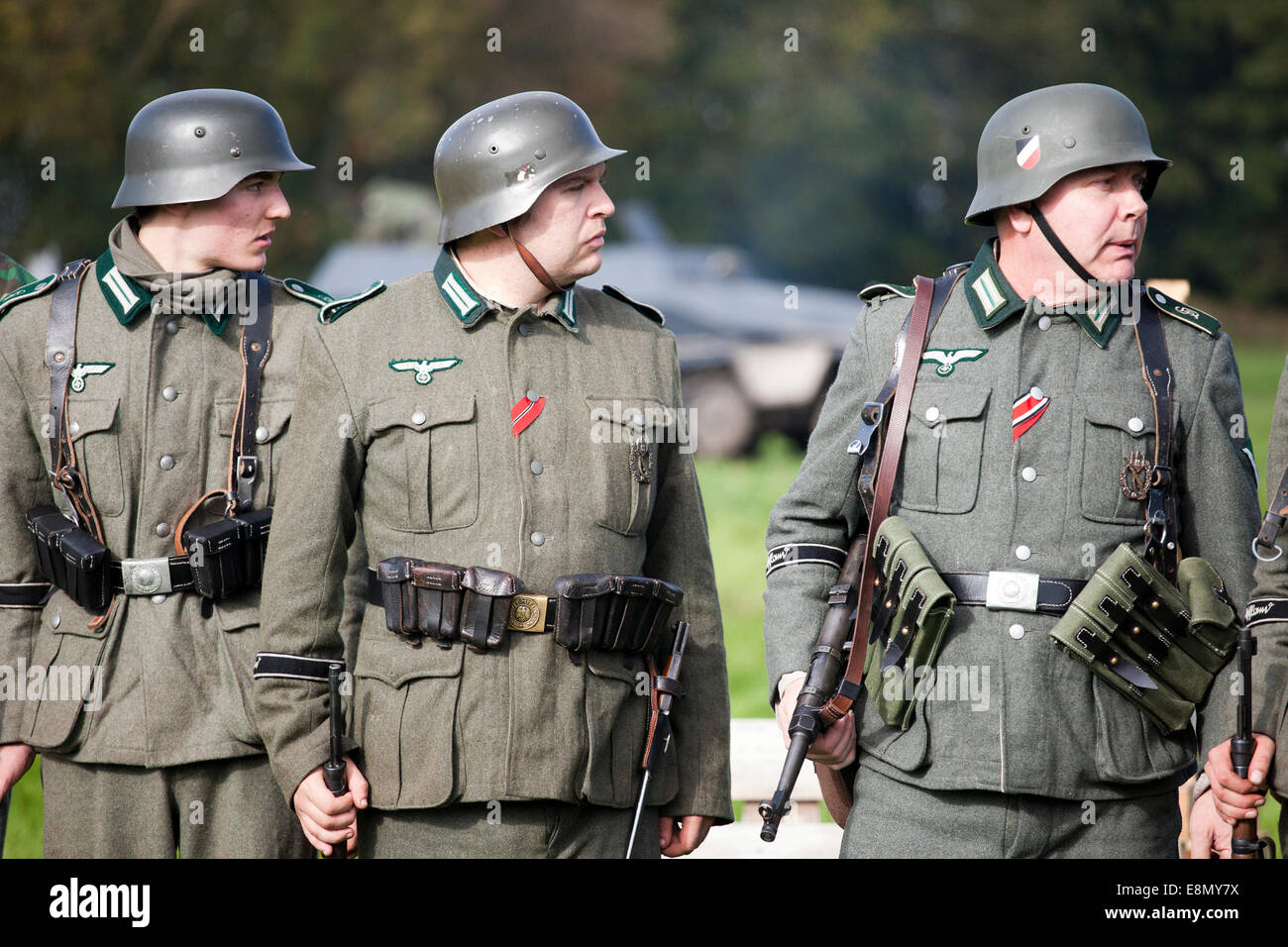 german soldier soldiers ww2 military reenactor reenactment