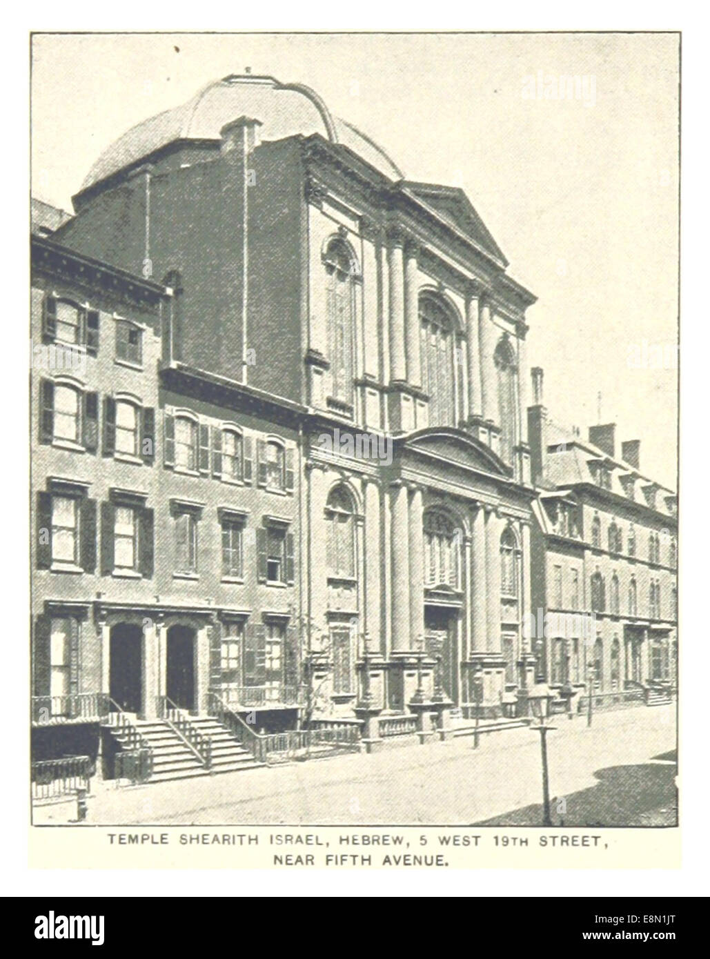 410 TEMPLE SHEARITH ISRAEL (HEBREW) 5 WEST 19TH STREET - Stock Image