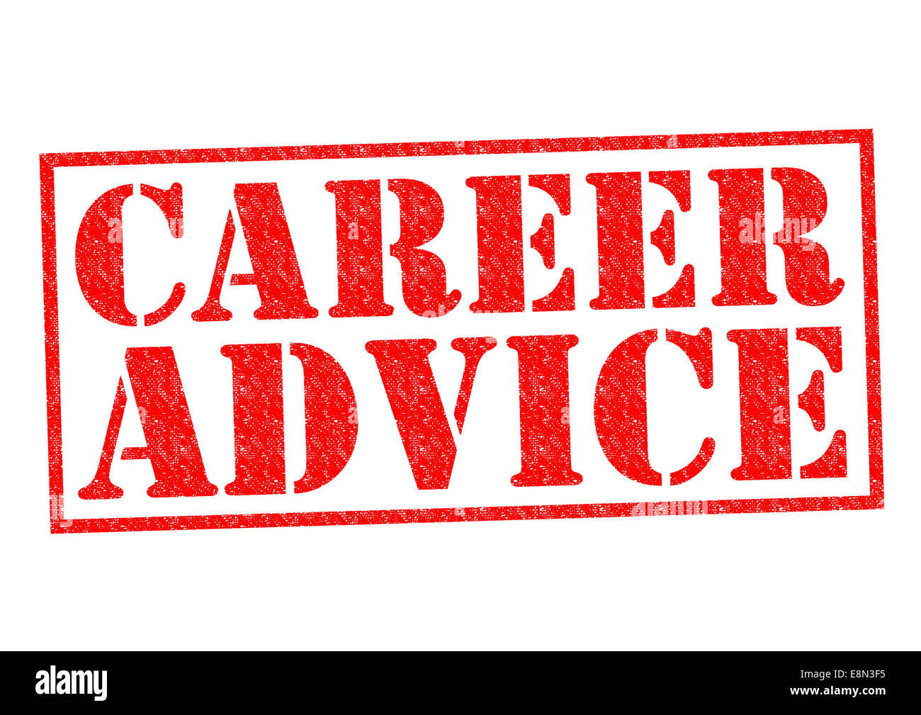 CAREER ADVICE red Rubber Stamp over a white background. - Stock Image