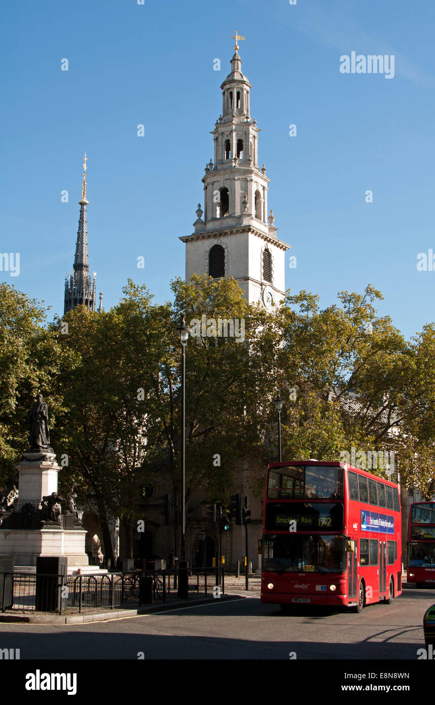 St. Clement Danes Church, London, UK - Stock Image
