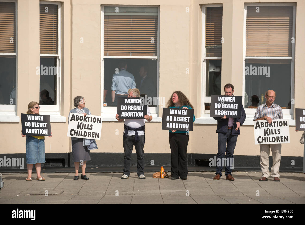 Anti-abortion campaigners at the Labour Party Conference in Brighton. - Stock Image