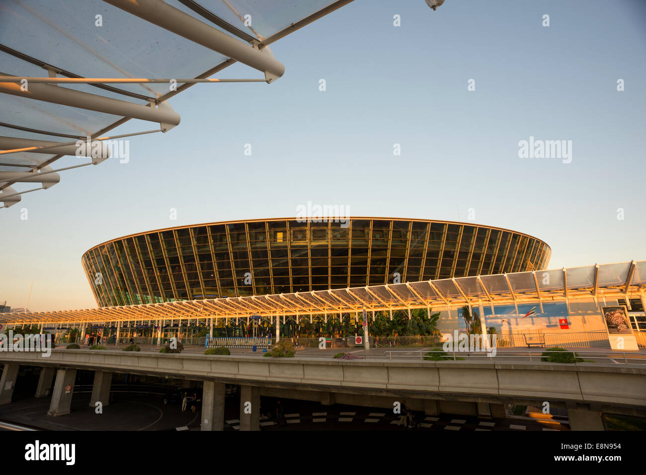 The main terminal building at Nice Airport in the south of France. Stock Photo