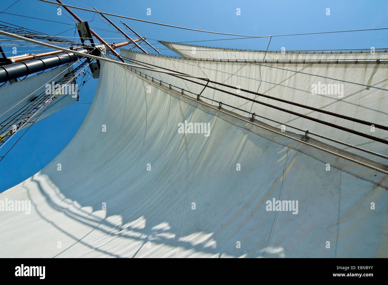 Tall ship sail - Stock Image