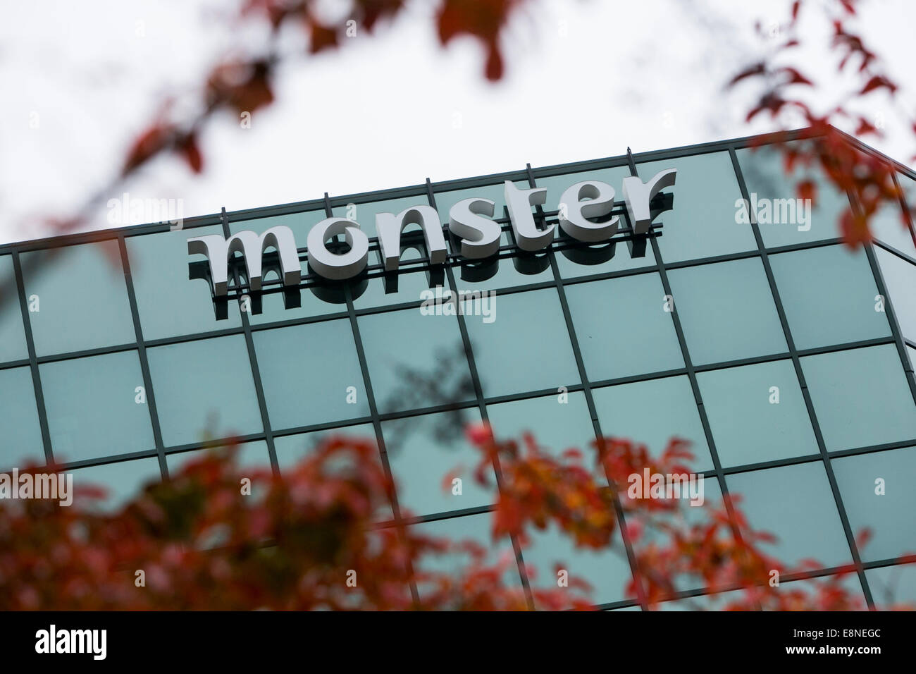 An office building occupied by the job listing firm Monster Worldwide, Inc., also known as Monster.com, in McLean, - Stock Image