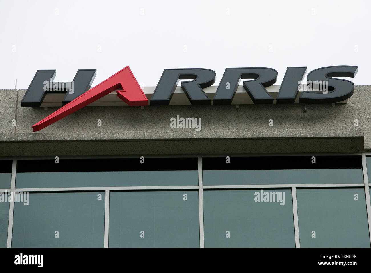 An office building occupied by the communications technology firm Harris Corporation in Reston, Virginia on October - Stock Image
