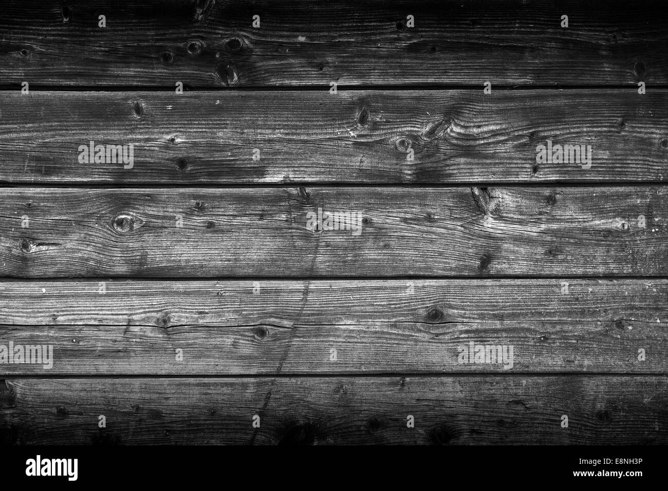 Old Gray Wooden Planks Texture as backdrop or background, natural pattern. - Stock Image