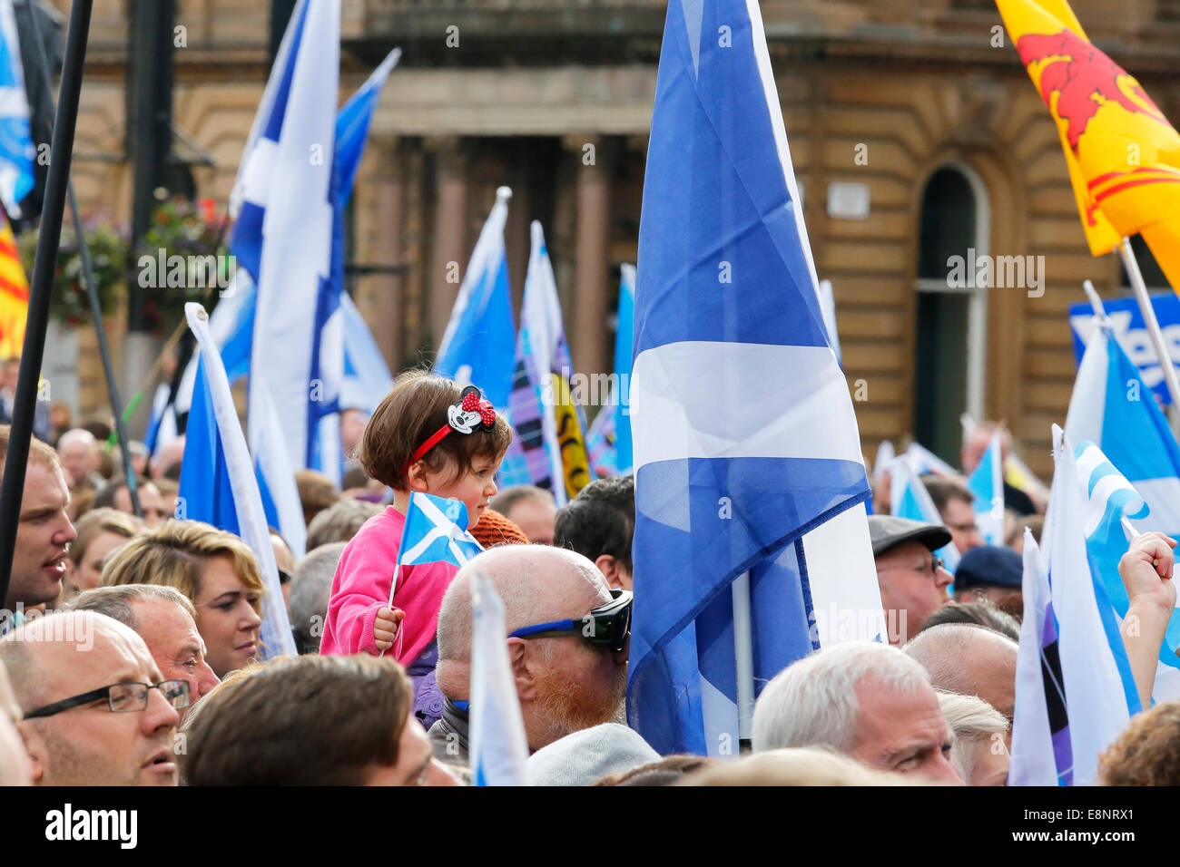 Tommy Sheridan, ex-MSP, organised and fronted a political rally in George Square, Glasgow in support of Scottish - Stock Image