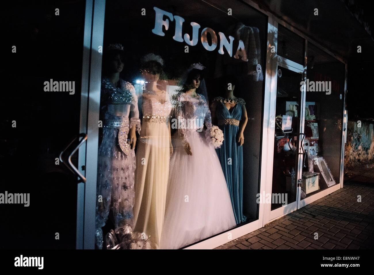 View Of The Window Of A Shop Selling Wedding Dresses In The City Of Stock Photo Alamy,Lace Vintage Style Plus Size Wedding Dresses