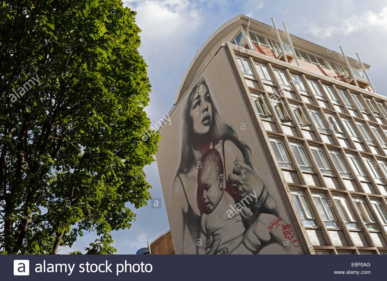 """""""Clothed with the Sun"""" by El Mac, Quay Street, Bristol, England Stock Photo"""