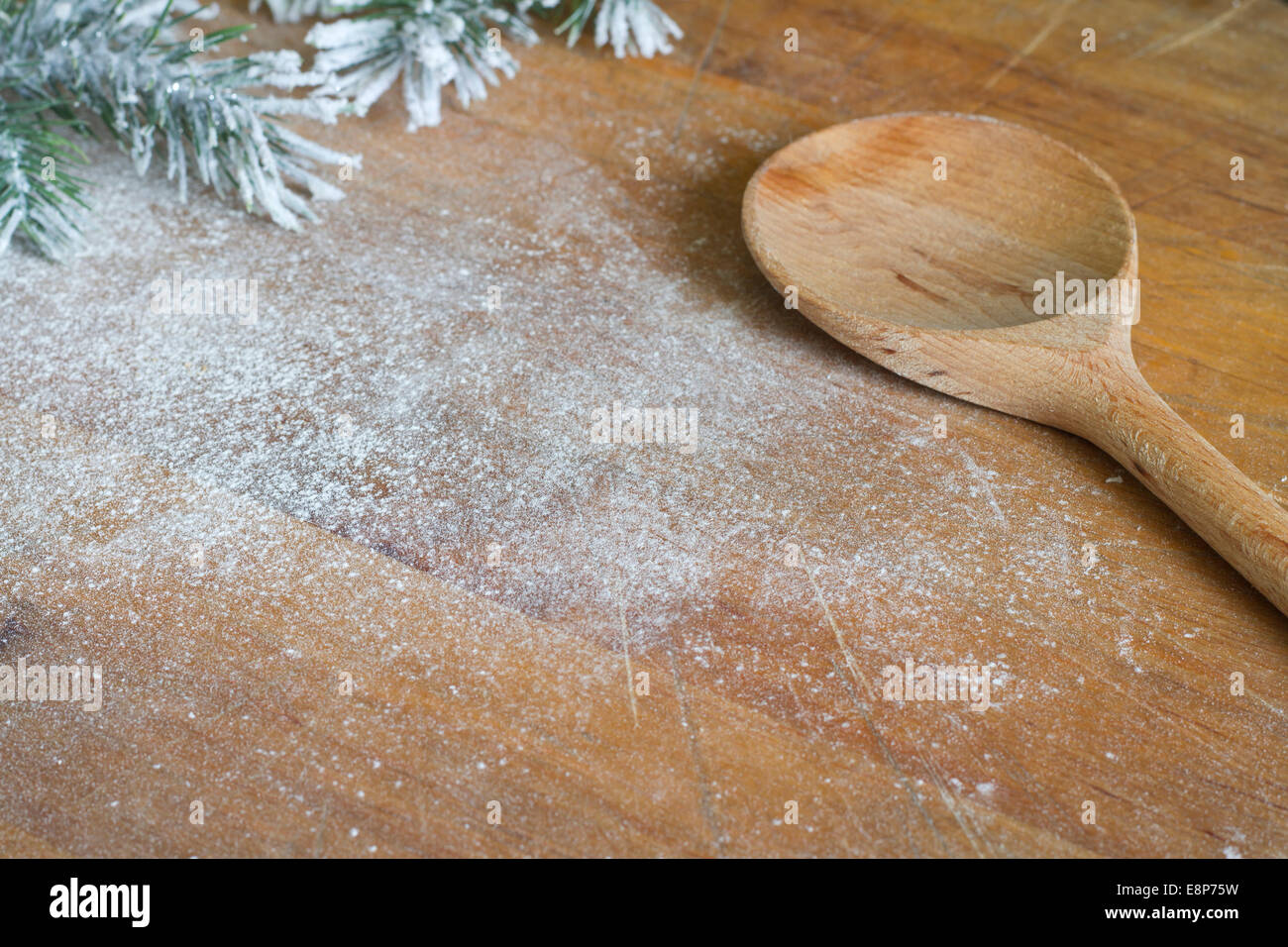 Abstract christmas food backing and cooking background concept - Stock Image