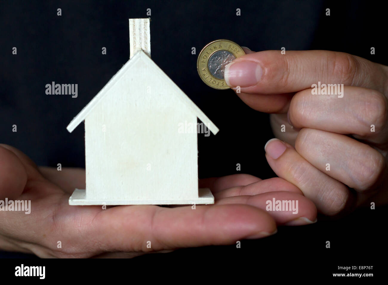 Purchase of a new home problem concept in black color - Stock Image