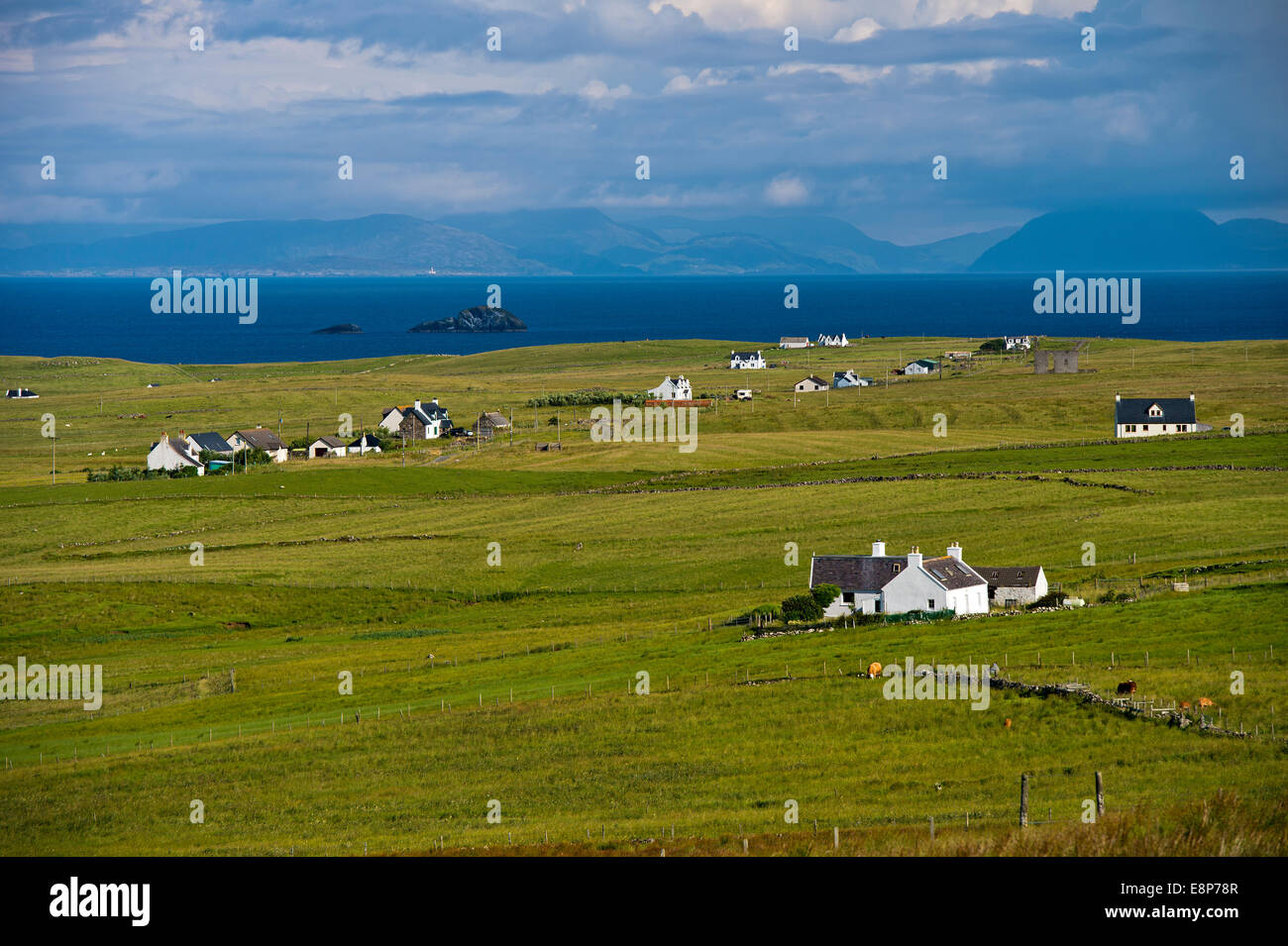 Landscape near Bornesketaig, Isle of Skye, Inner Hebrides, Scotland, United Kingdom - Stock Image