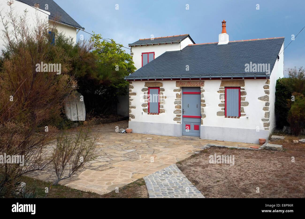seaside holiday gite, batz-sur-mer, loire atlantique, france - Stock Image