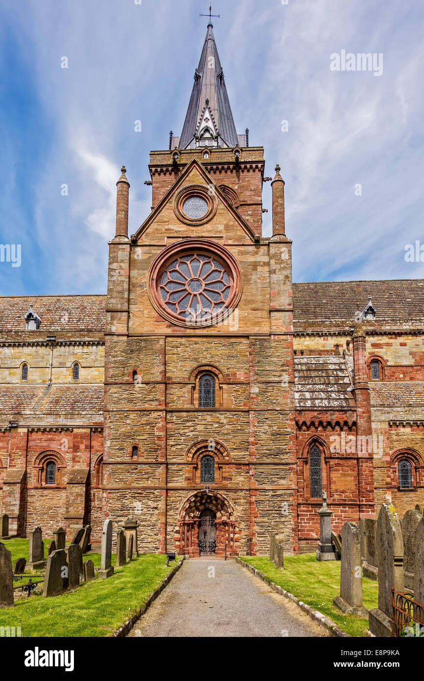 St Magnus Cathedral Kirkwell Orkney Islands UK - Stock Image