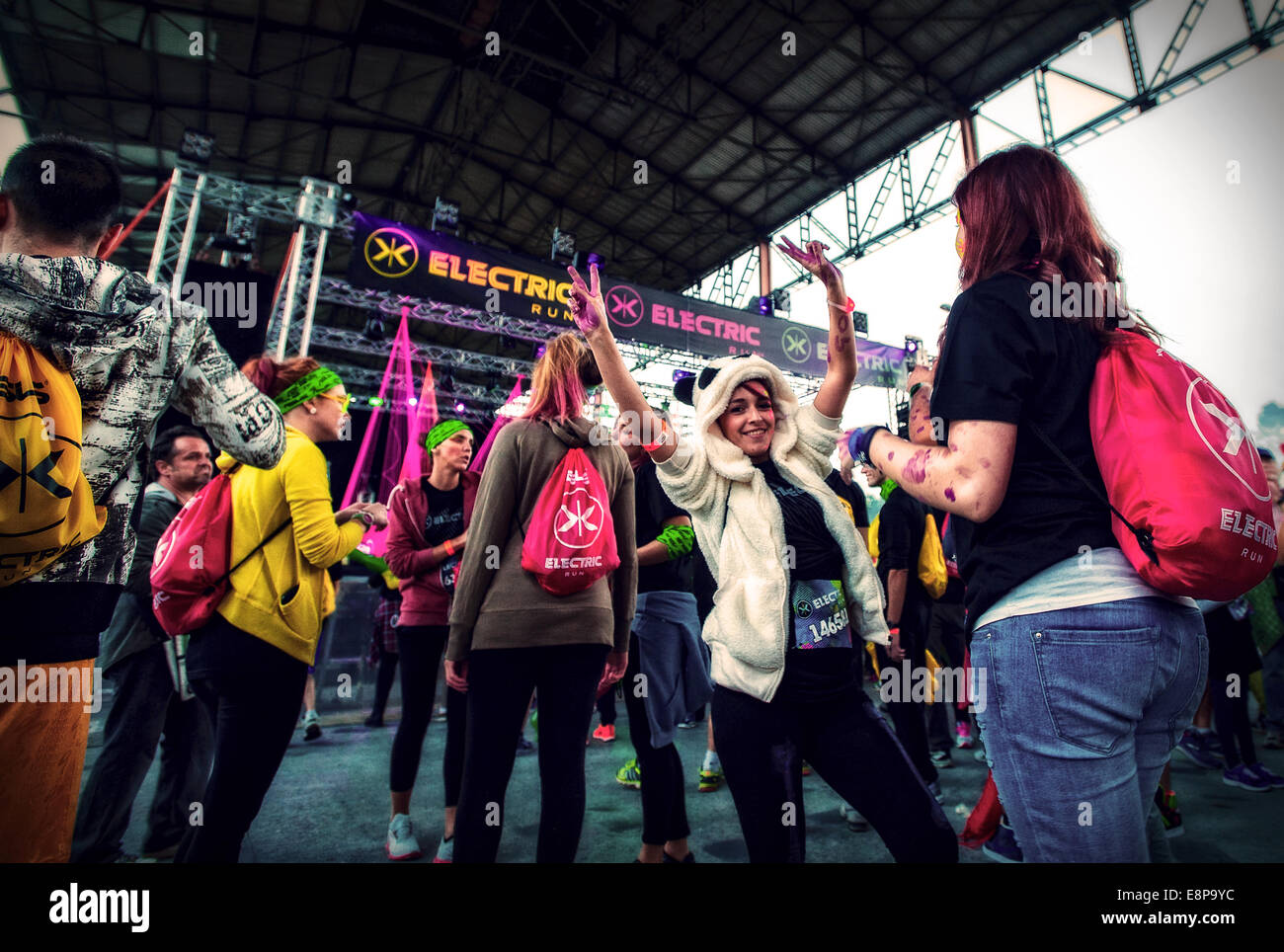 Turin, Italy. 11th Oct, 2014. Parco Dora  the event the Electric run Credit:  Realy Easy Star/Alamy Live News - Stock Image