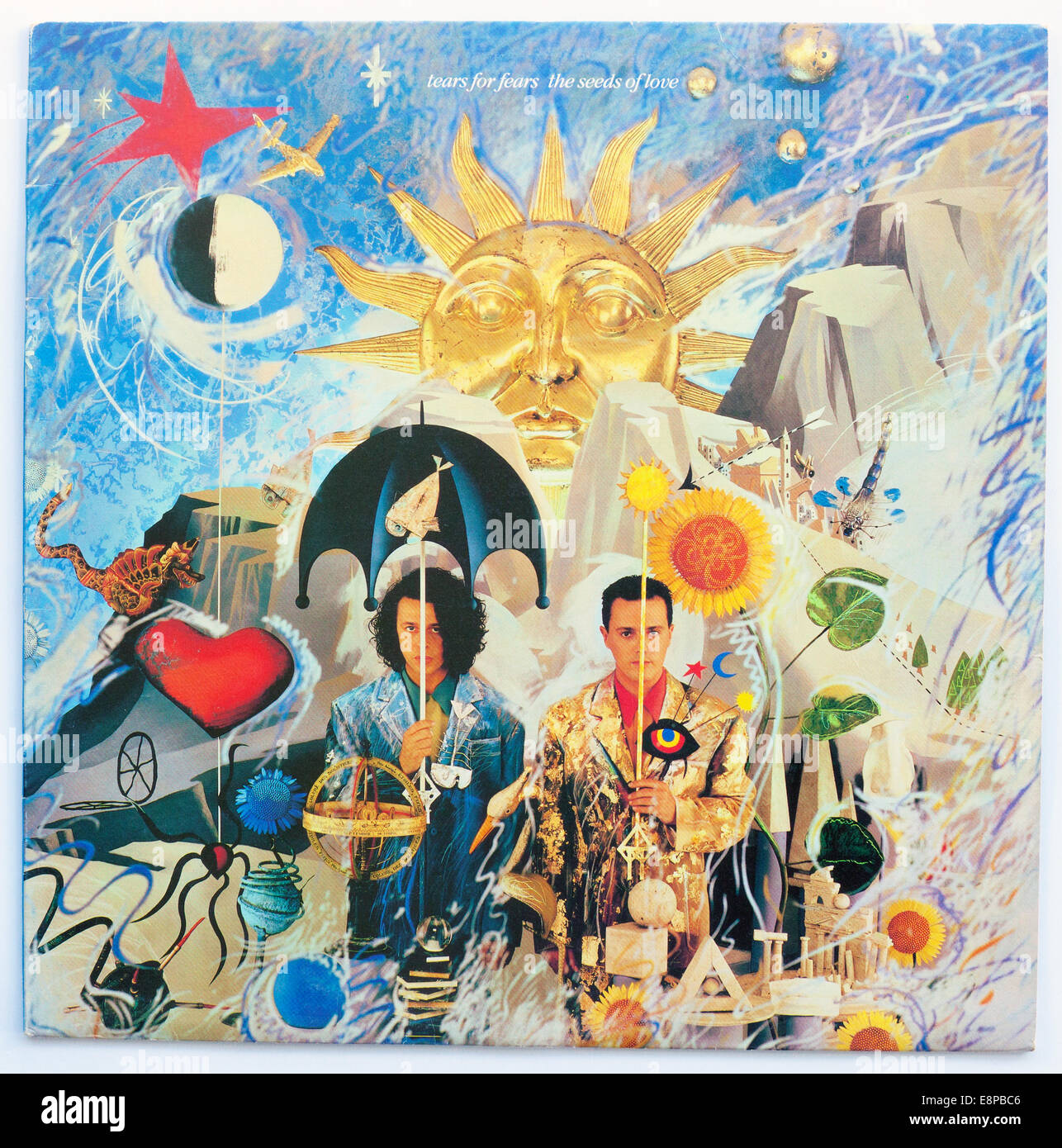 Cover Art for Tears For Fears - The Seeds Of Love, 1989 vinyl album on Fontana/Mercury Records - Stock Image