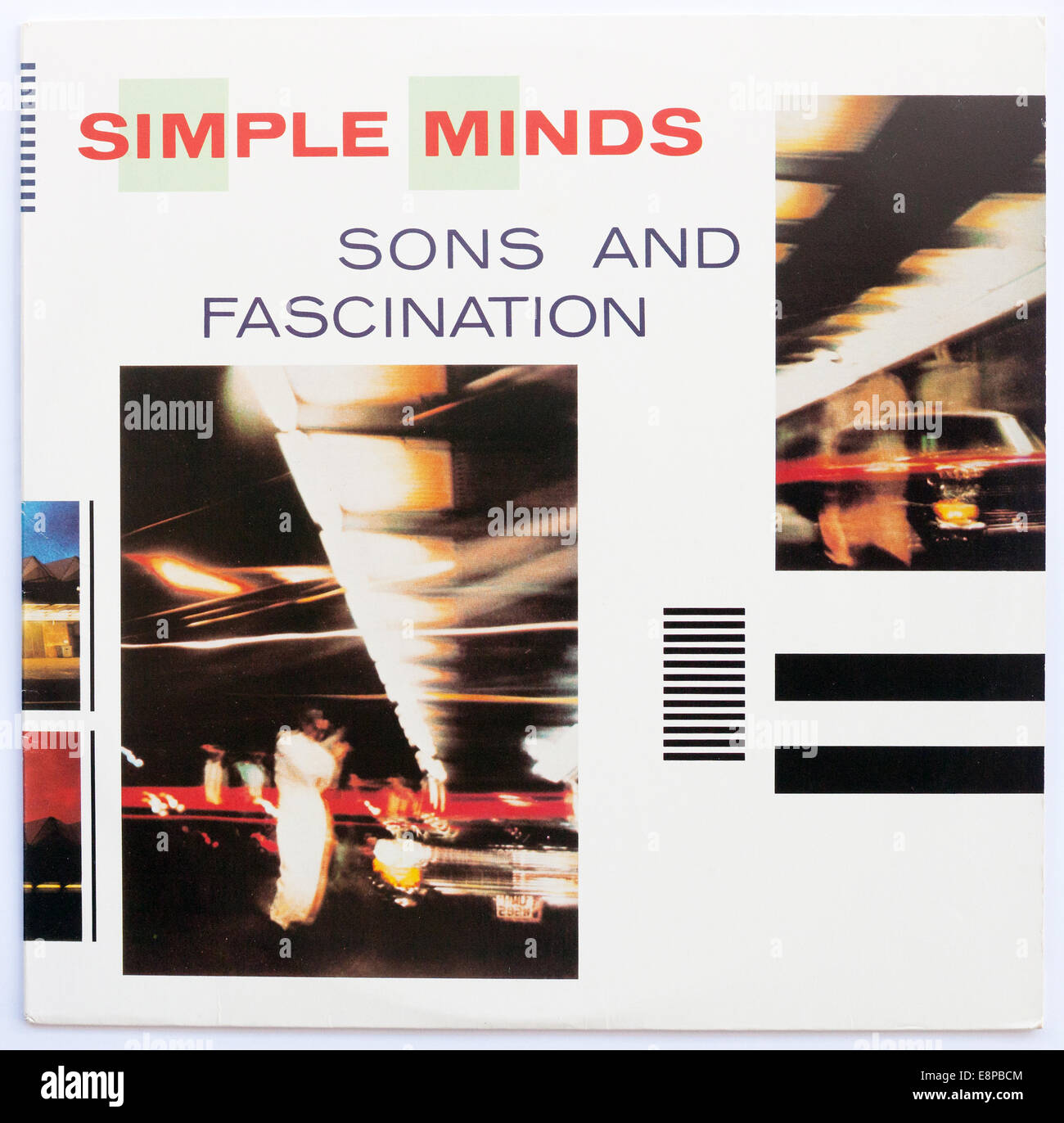 Cover art for Simple Minds - Sons And Fascination, 1981 vinyl album on Virgin Records - Stock Image