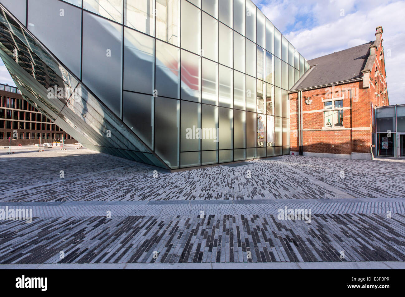 """""""Theatre Le Manege"""" theater in new and old buildings, central point for the Capital of Culture 2015, Stock Photo"""