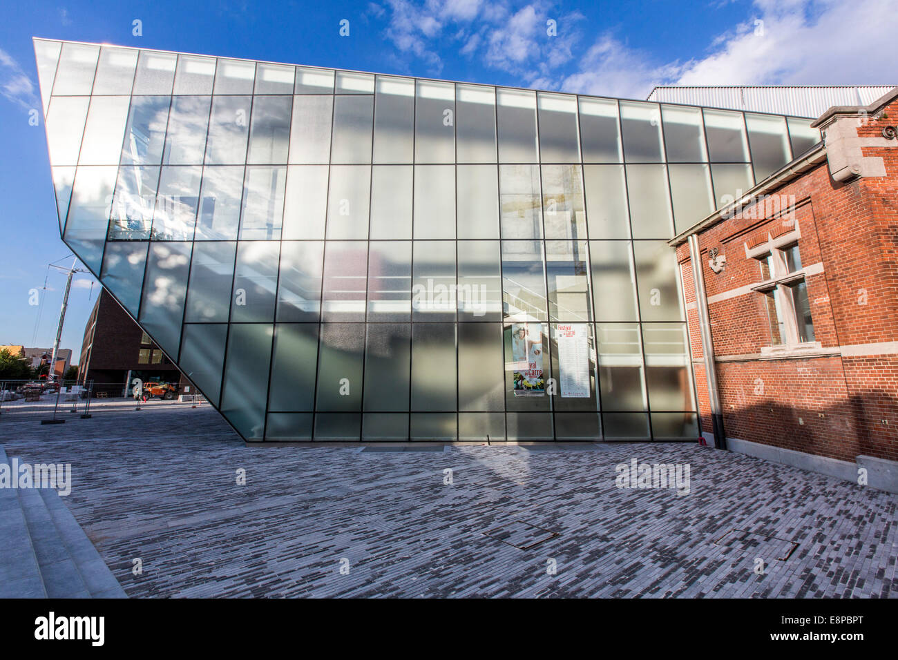 """Theatre Le Manege"" theater in new and old buildings, central point for the Capital of Culture 2015, Stock Photo"