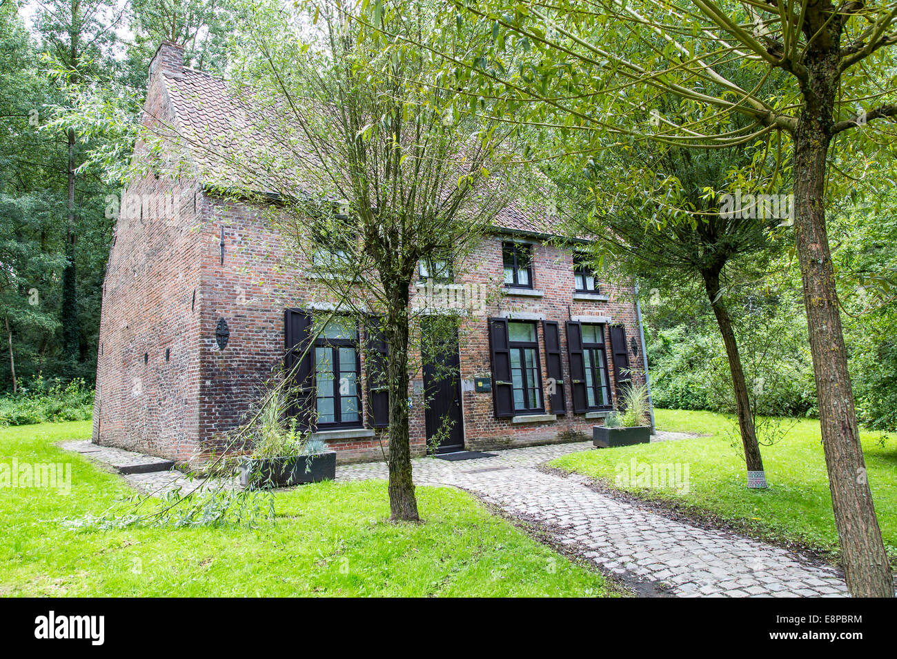 Van Gogh House in Cuesmes, the artist lived and worked here three years - Stock Image