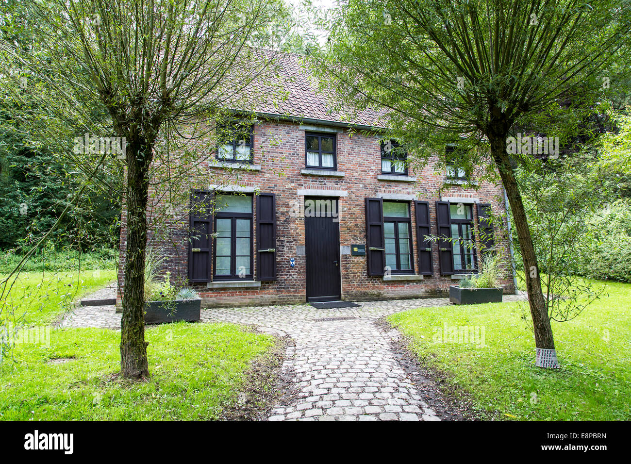 Van Gogh House in Cuesmes, the artist lived and worked here three years Stock Photo