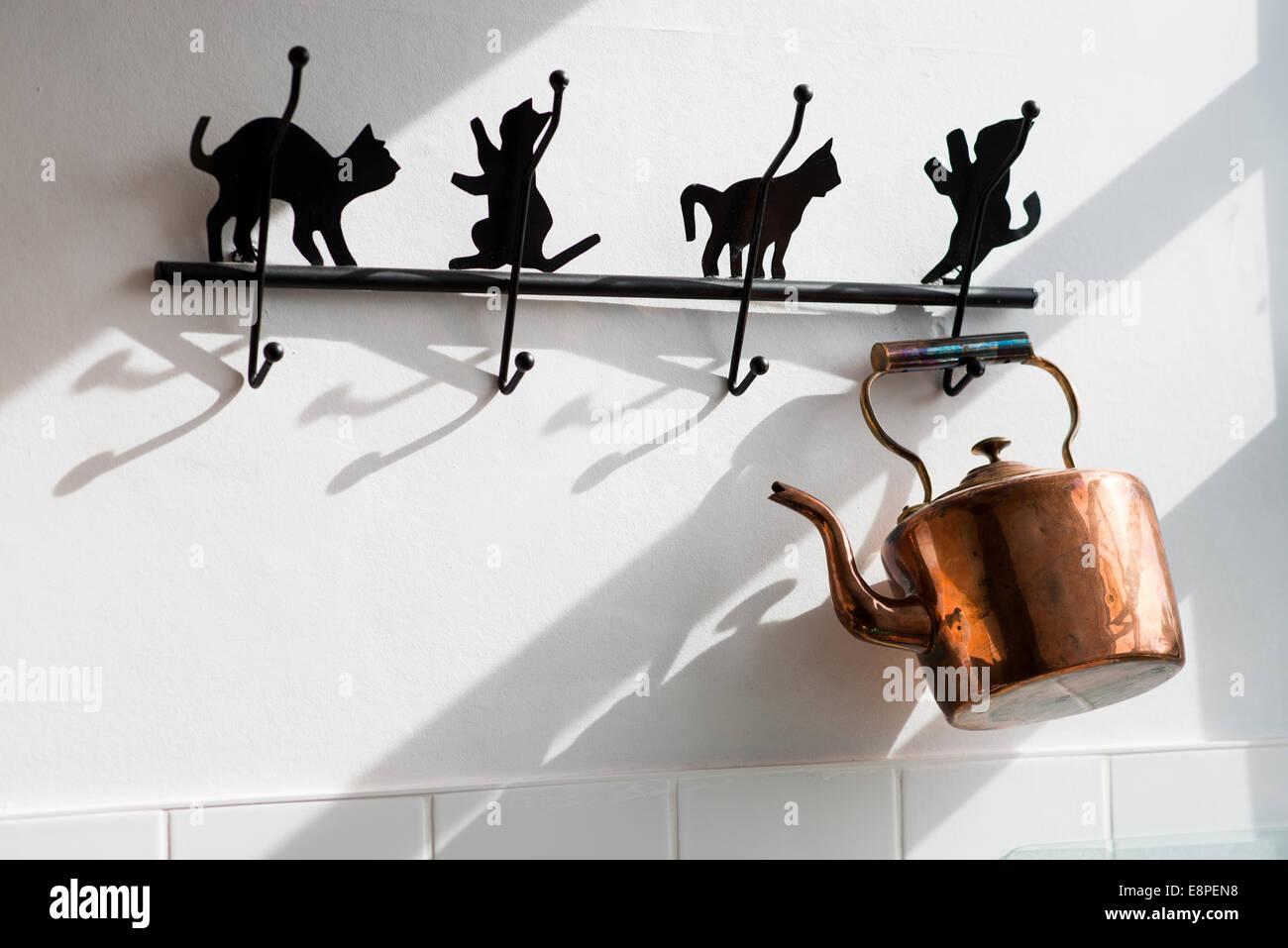 Brass pot - Kitchen - Stock Image