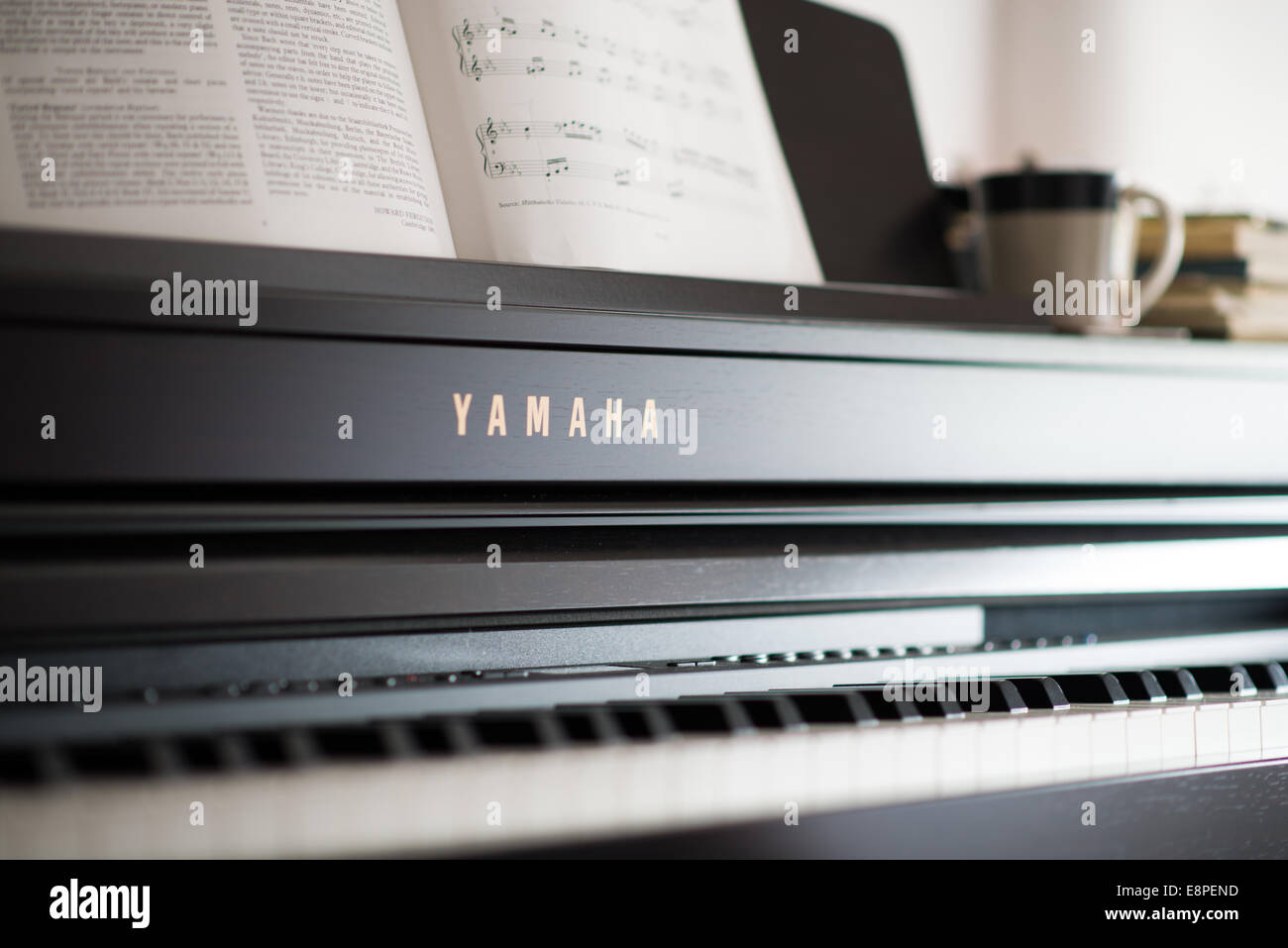 Learning to play Piano - Stock Image