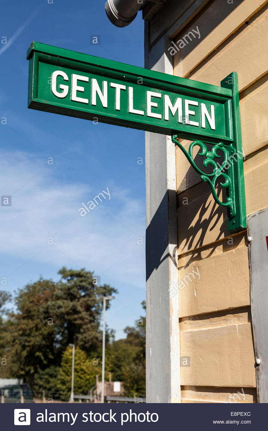 Old fashioned Gentlemen sign - Stock Image