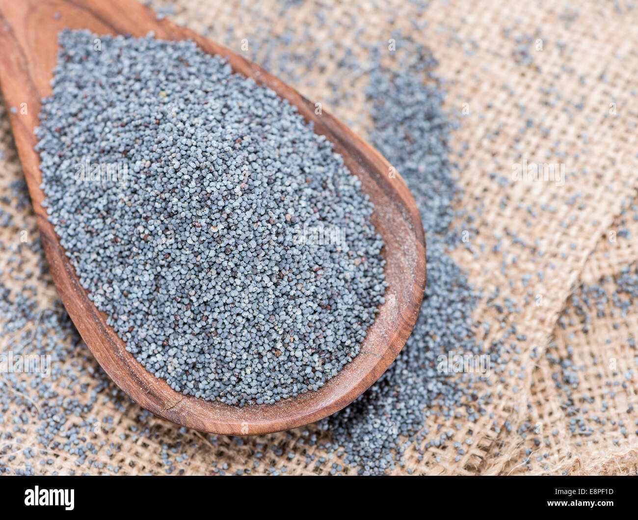 Small portion of Poppyseed (detailes close-up shot) - Stock Image