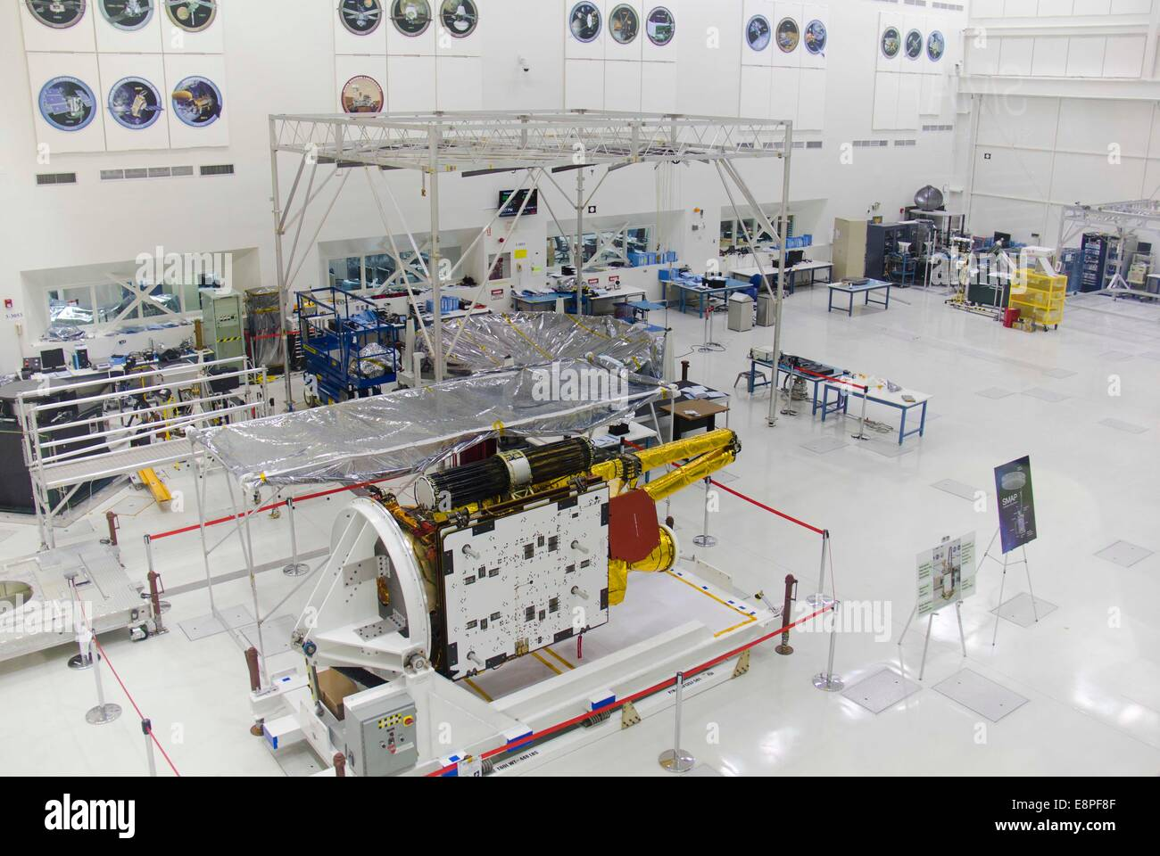 Los Angeles, USA. 12th Oct, 2014. Photo taken on Oct. 12, 2014 shows the spacecraft assembly facility at NASA's - Stock Image