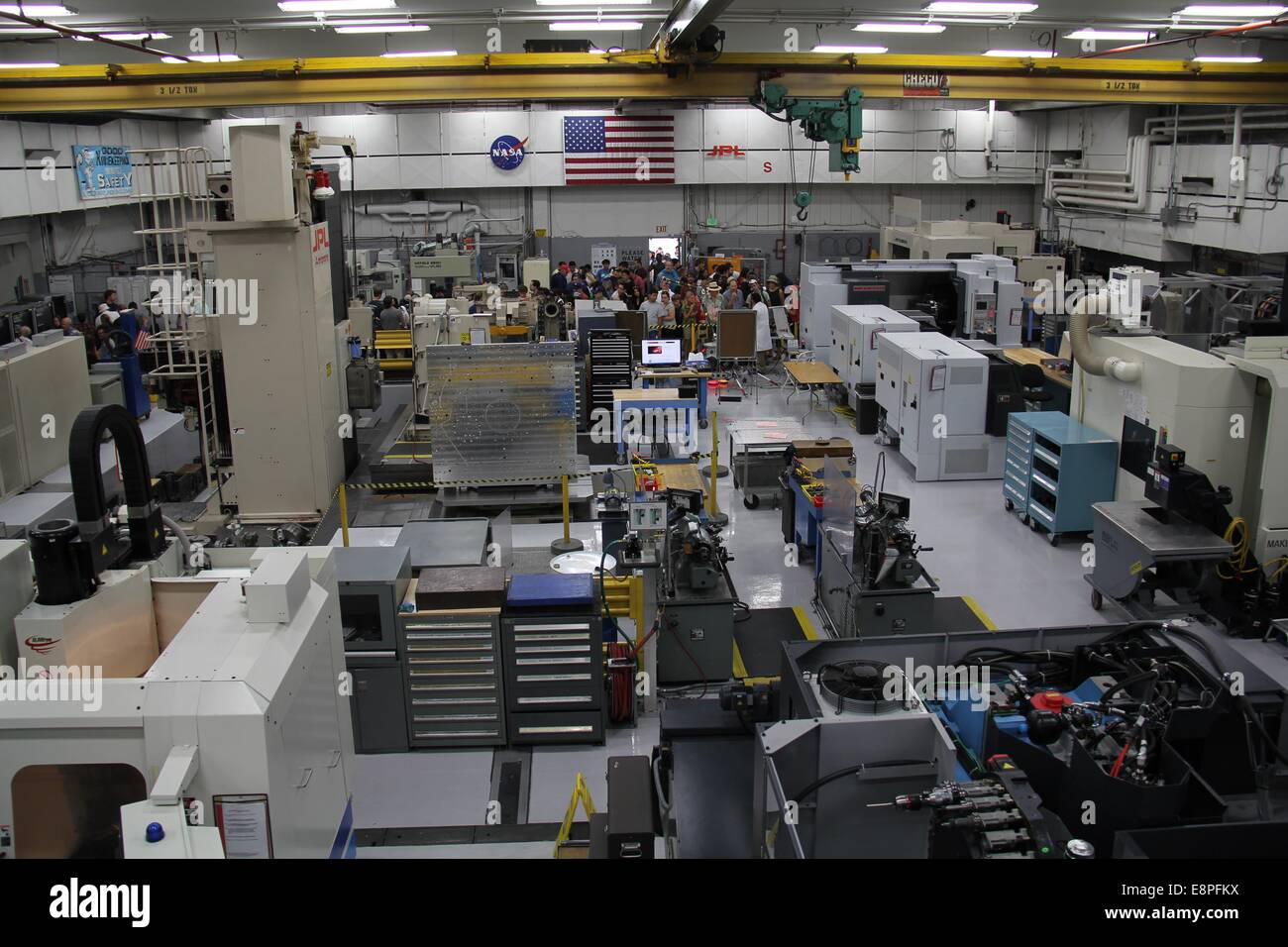Los Angeles, USA. 12th Oct, 2014. Photo taken on Oct. 12, 2014 shows the spacecraft fabrication facility at NASA's - Stock Image