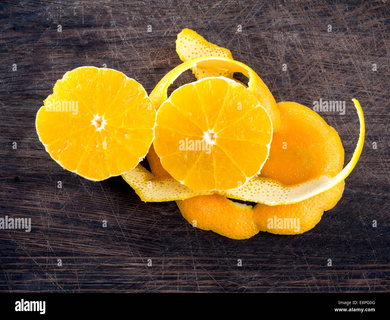 Orange zest ready to cook - Stock Image