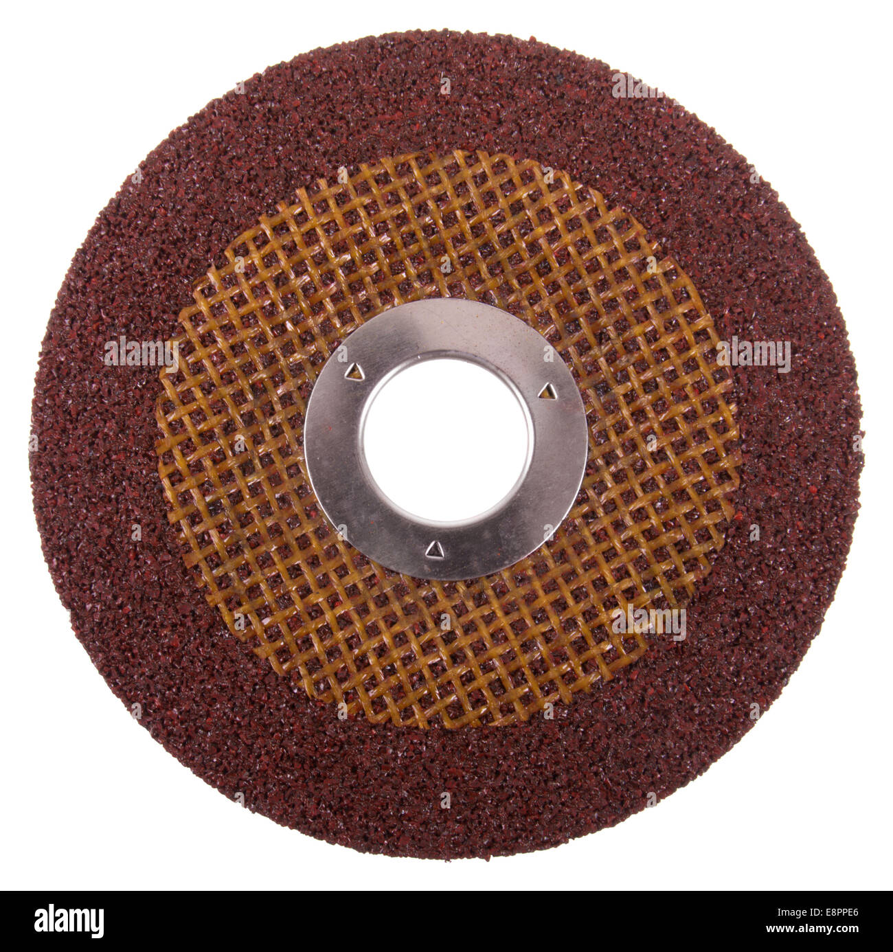 Angle Grinder Disc For Grinding Steel - Stock Image
