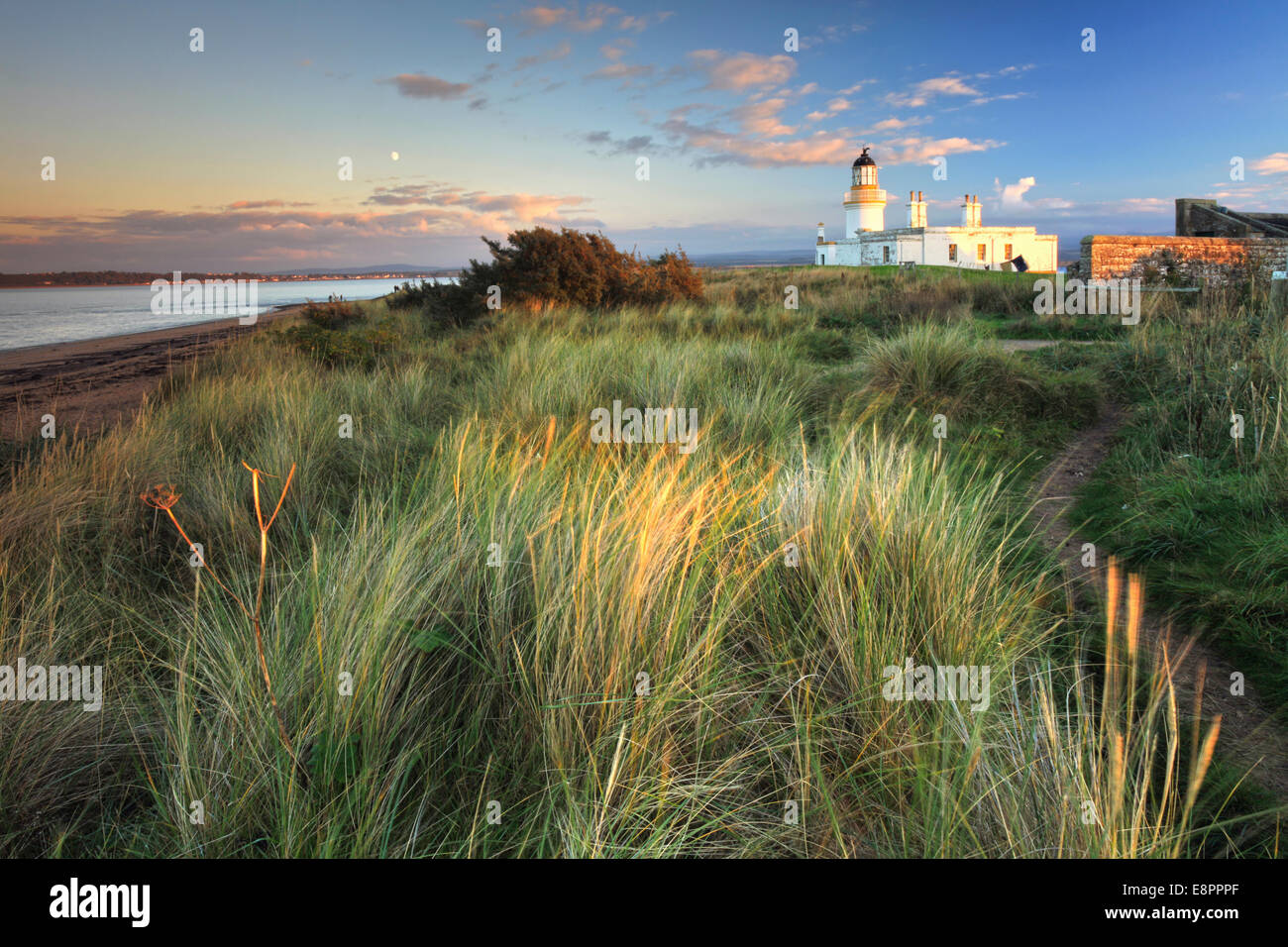 Chanonry Point Lighthouse on Black Isle in Scotland. - Stock Image