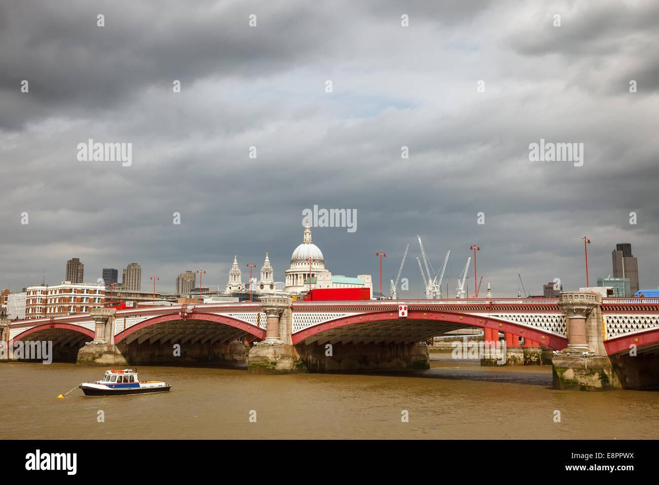Blackfriar's Bridge, London - Stock Image