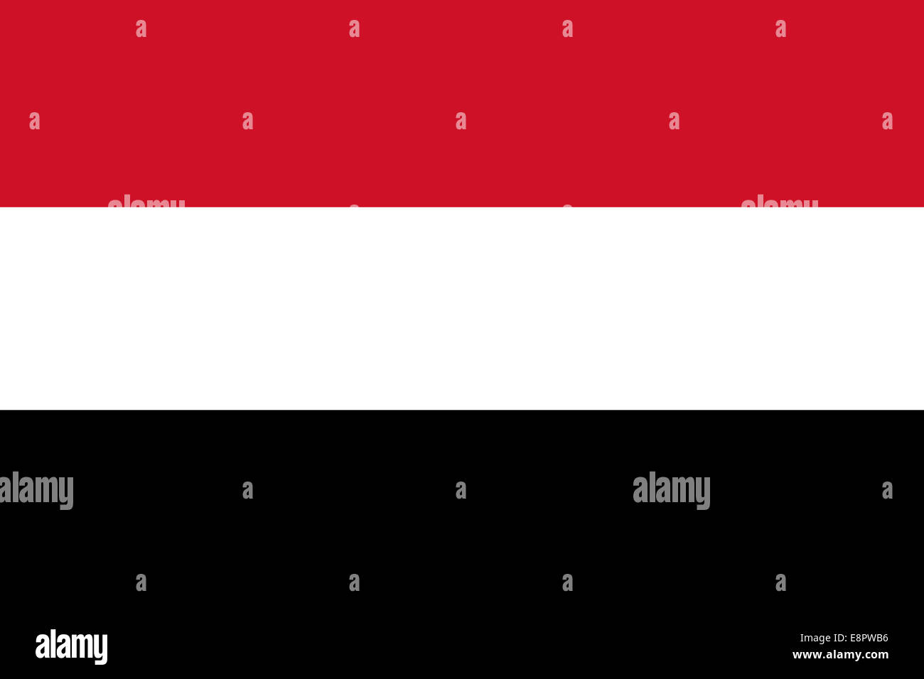 Flag of Yemen - Yemenite Flag (true RGB and proportions) - Stock Image