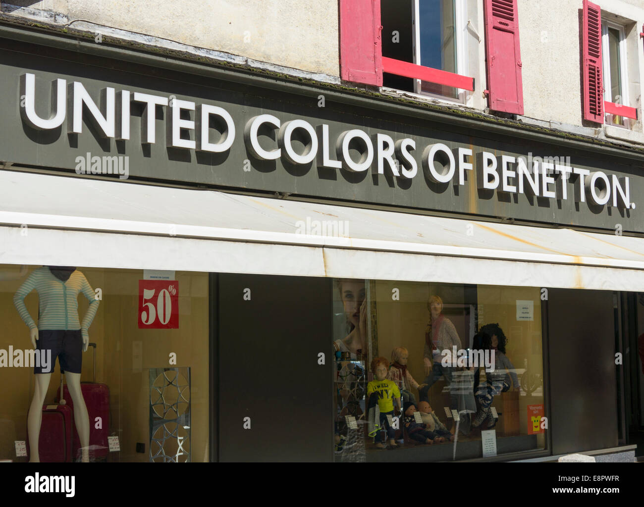 United Colors of Benetton store in France, Europe - Stock Image