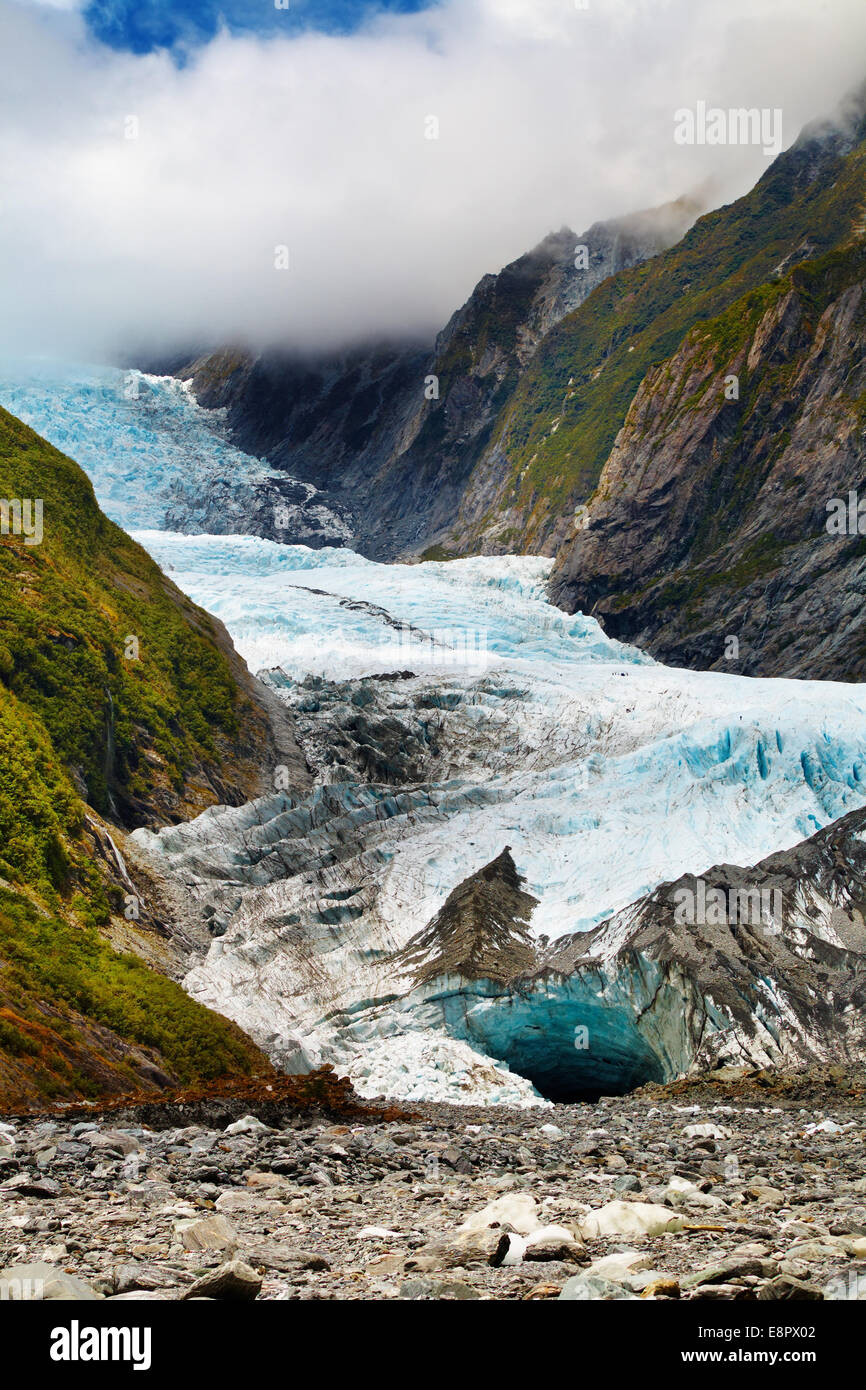 Franz Josef glacier, Southern Alps, New Zealand - Stock Image