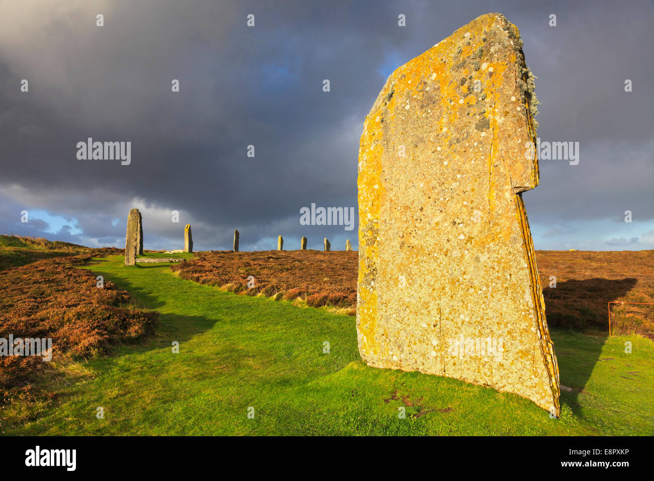 The Ring of Brodgar on Mainland Orkney Stock Photo
