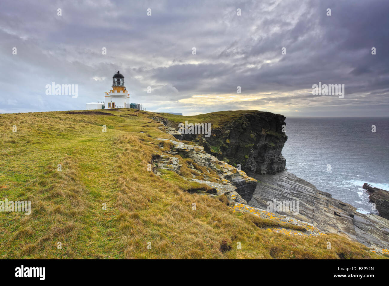 The Brough of Birsay Lighthouse on Mainland Orkney Stock Photo