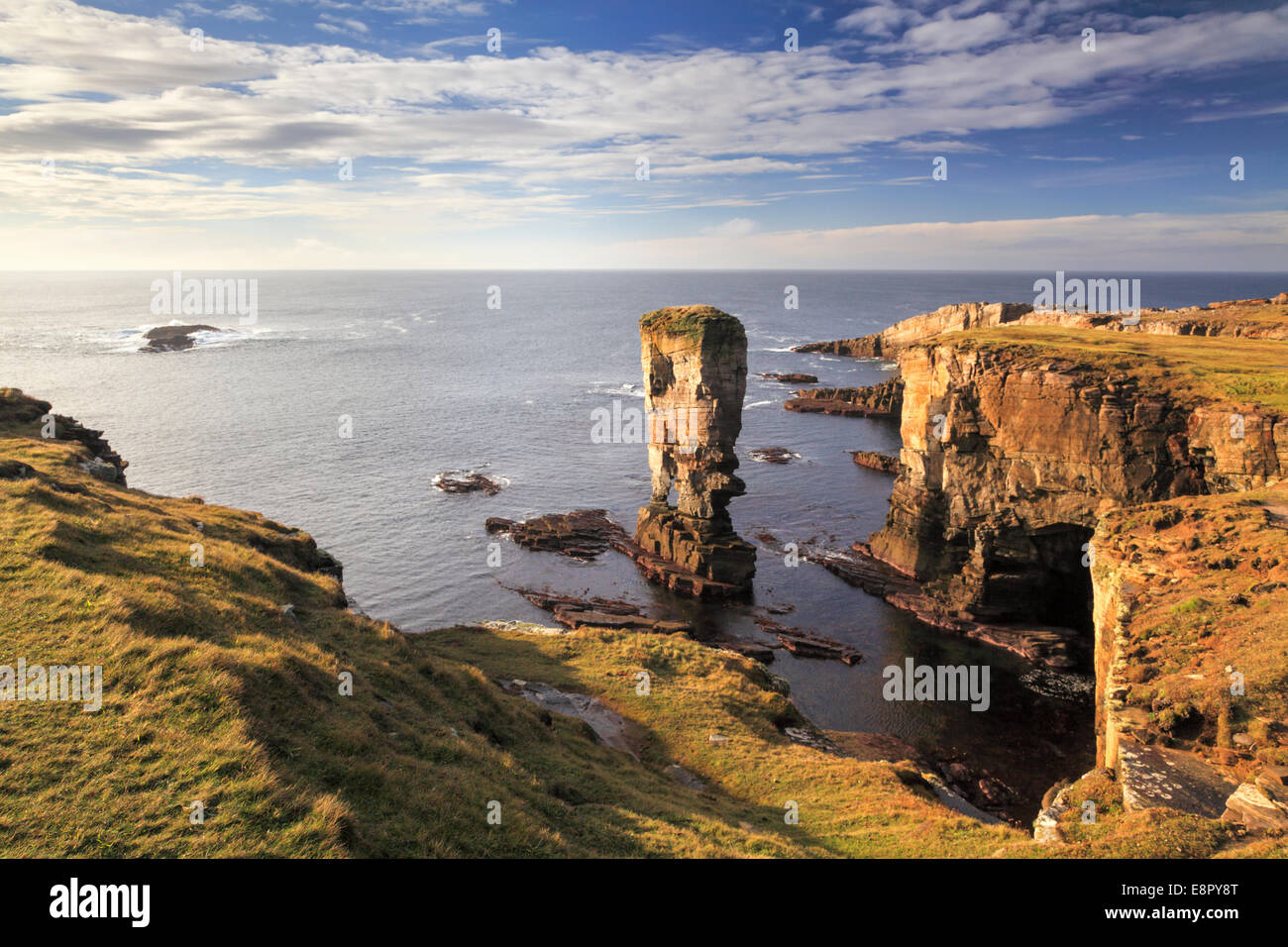 Yesnaby Castle Sea Stack on Mainland Orkney - Stock Image